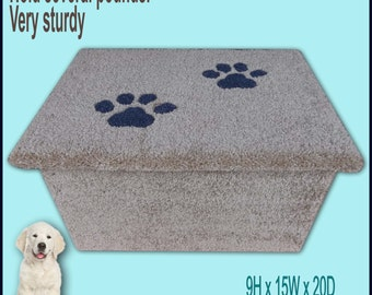 Doggy step.Dog steps. Step for cats or dogs, chihuahuas. Pet furniture. Puppy steps. Dogs furniture.Disabled dogs, Dog items.
