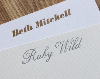 Luxury Letterpress Personalised Correspondence Cards