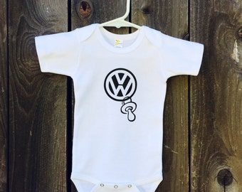 VW Pacifier bodysuit for the future VW enthusiasts !