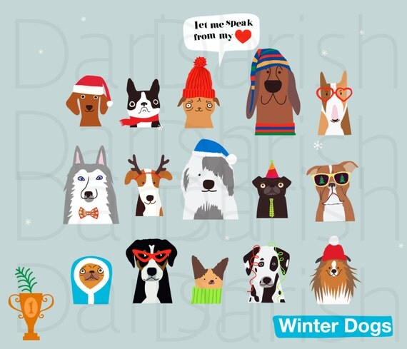 free christmas clip art with dogs - photo #25