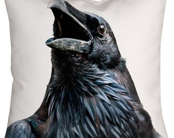 Pillow Cushion Black Raven