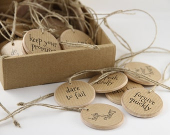 Positive Inspiration Encouragement Quotes, Pocket Token, Unique Meaningful Graduation Gift, Words of Wisdom, Confirmation Party Favor