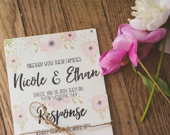 FLORAL|Wedding Invitation Set #74