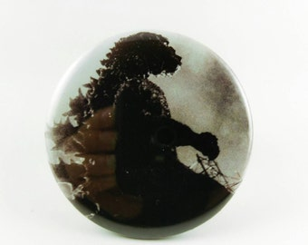 "2.25"" Godzilla button or magnet"