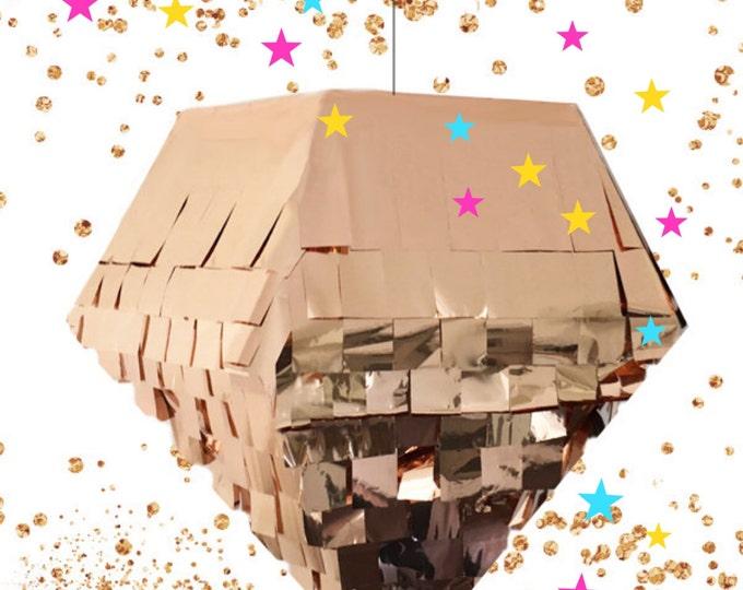 Diamond Piñata, Wedding Ideas, Diamond Piñata, Octahedron Piñata in Rose Gold, Copper, Gold, Silver, or Purple, Pyramid Piñata