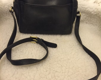 Vintage coach black leather bag