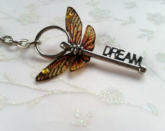 Magical Dream winged-key keyring