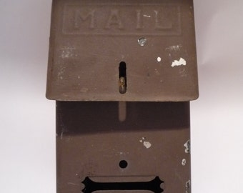 Vintage Metal Mailbox Chippy Paint