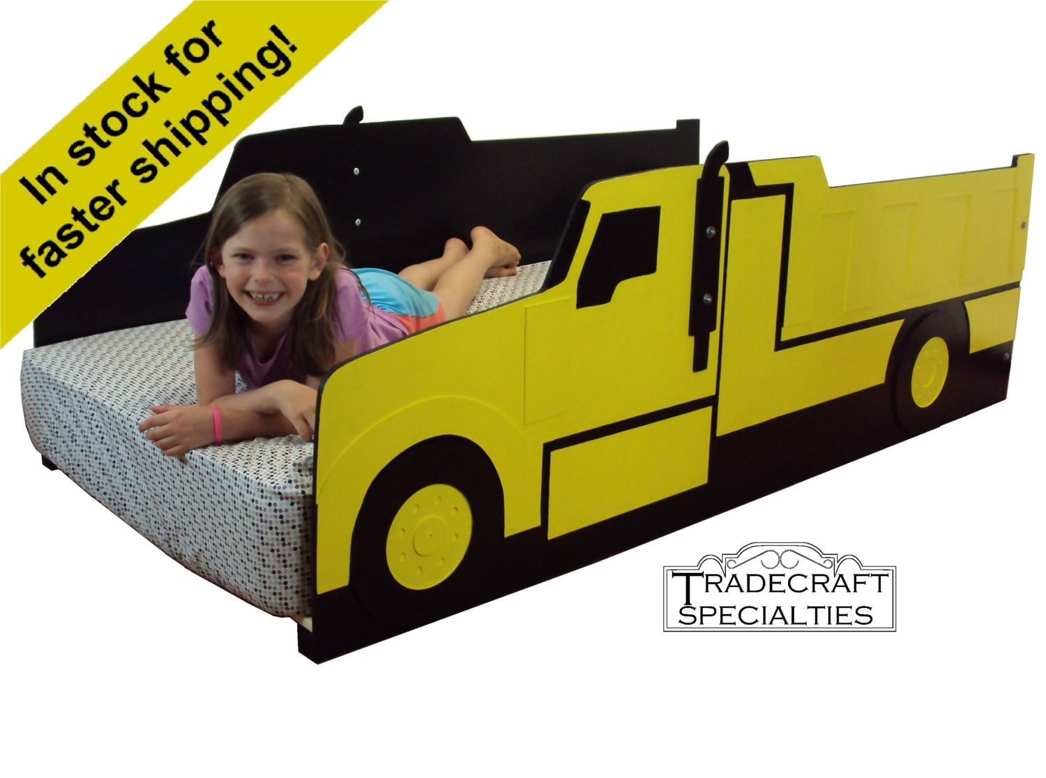 Dump truck twin kids bed frame handcrafted haul truck - Dump truck twin bed ...