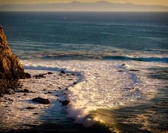 Beach Photography Ocean Art Print Pt Vicente California Coast Beach Cottage Wall Decor