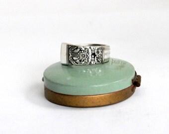 coronation ring, coronation pattern ring, spoon ring