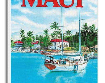 Art Maui Hawaii Travel Poster Print Gift Hanging Wall Decor xr559