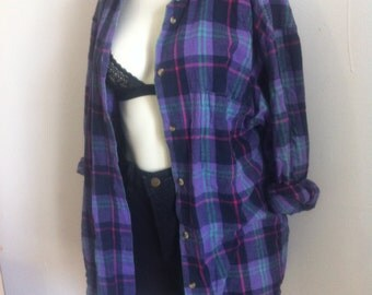 flanelle blouse large women/ medium  mens