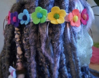 Flower head band in any colours