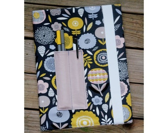 MTO Composition notebook cover - Flowers