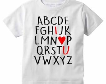ABC I LOVE You Tshirt - Toddler