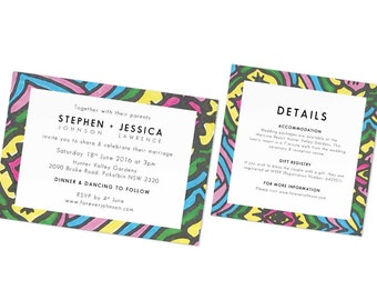 Floral Wedding Invitation Design Card Template Weddings Invites Flower Pattern