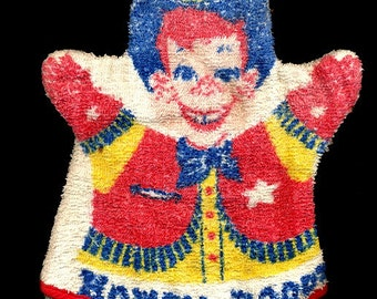 1950s Howdy Doody Terry Cloth Hand Puppet / Wash Cloth
