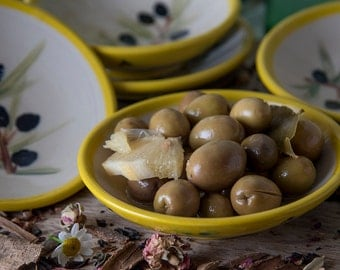 Hostess Gift / Ceramic Olives Serving Dish / Appetizer Plate / Small Dipping Dish / Ceramic Tapas Plates