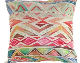 Geometric Criss Cross Pillow Cover