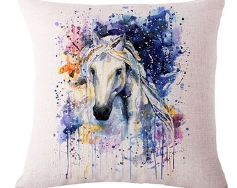 Watercolor Horse - Pillow Cover