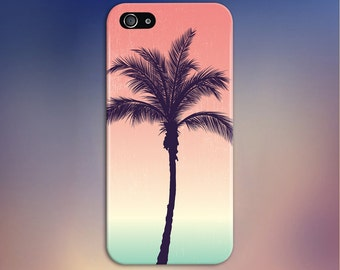 Palm Tree Silhouette x Pastel Phone Case, iPhone 7, iPhone 7 Plus, Protective iPhone Case, Galaxy s8, Samsung Galaxy Case Note 5 CASE ESCAPE