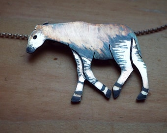 Sterling Silver Okapi Necklace