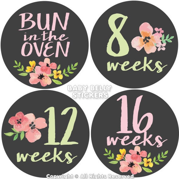 Permalink to Pregnancy Week By Week Stickers