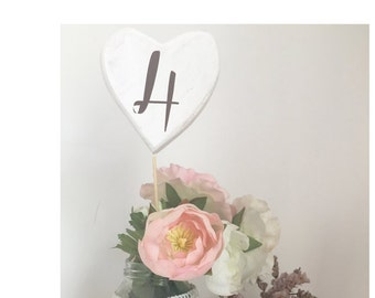 Table markers HEART numbers
