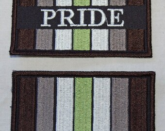 Agender Pride Flag embroidered patch