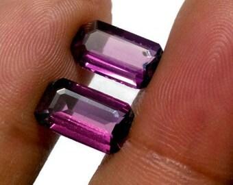 Natural 3.40 Ct Rodolite Fancy Cut Octogan Shape Pair Loose Gemstone