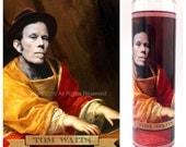 "Tom Waits Prayer Candle. Saint Tom Waits! Great Gift! Premium Handmade 9"" Soy Candle!"
