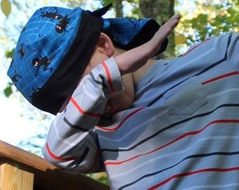 Jon's Children's Doo Rag - Ninjas - A Reversible Bandana, Cancer Hat, Chemo Headwear, Alopecia Scarf, Head Cover, Hair Loss, Cancer Gift