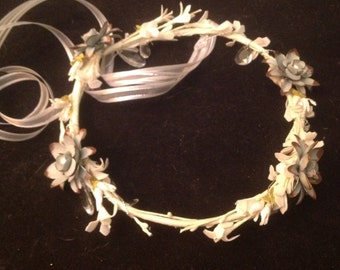 Blue Metal Daisy Crown