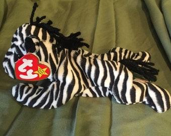 """Beanie Baby 1995-- """"Ziggy"""" the zebra"""