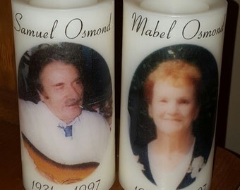 Personalized LED Memorial Candle