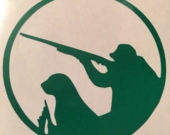 Hunter & Dog Yeti cup/car decal