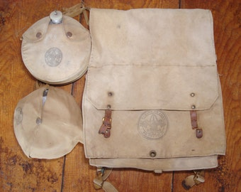 Vintage Boy Scout Back Pack/Canteen/Mess Kit