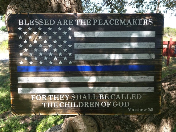 UNFRAMED Blessed are the Peacemakers sign