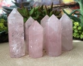 Rose Quartz Gemstone Point-Rose Quartz Standing Point-Faceted Gemstone Point-Rose Quartz-Polished Rose Quartz Points-Metaphysical Crystals