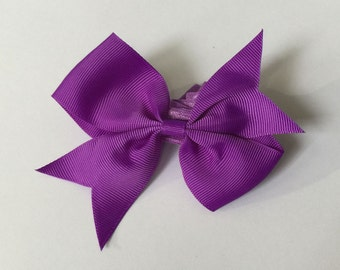 """4"""" Bow with Band - Purple"""