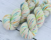 Salt Water Fish  - Fingering Weight Yarn - Hand Dyed - Superwash BFL - Nylon - Speckled