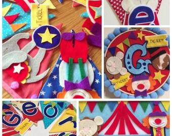 Circus carnival bunting banner
