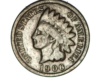 1906 US cent indian head     bn128