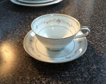 Noritake Fairmont 6120 Cup and Saucer 2 Sets