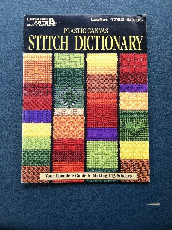 Plastic Canvas Stitch Dictionary Leisure Arts Craft Leaflets