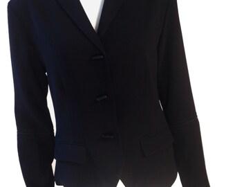 Harari Black Kimono Style Blazer Jacket - Size Small