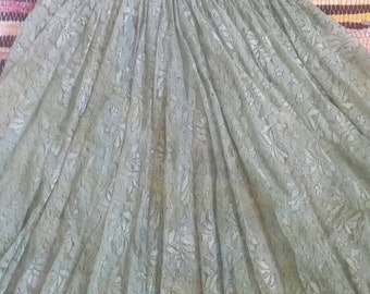 LRG Lace Hippie Green Flowing Dress Faerie