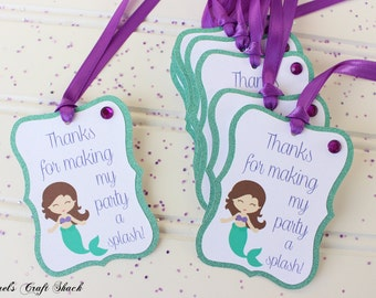 Mermaid Favor Tags