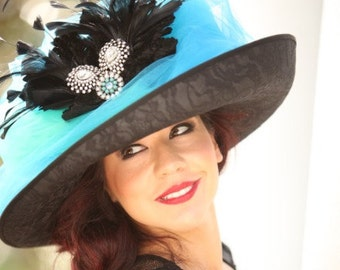 Big Blue Kentucky Derby Hat
